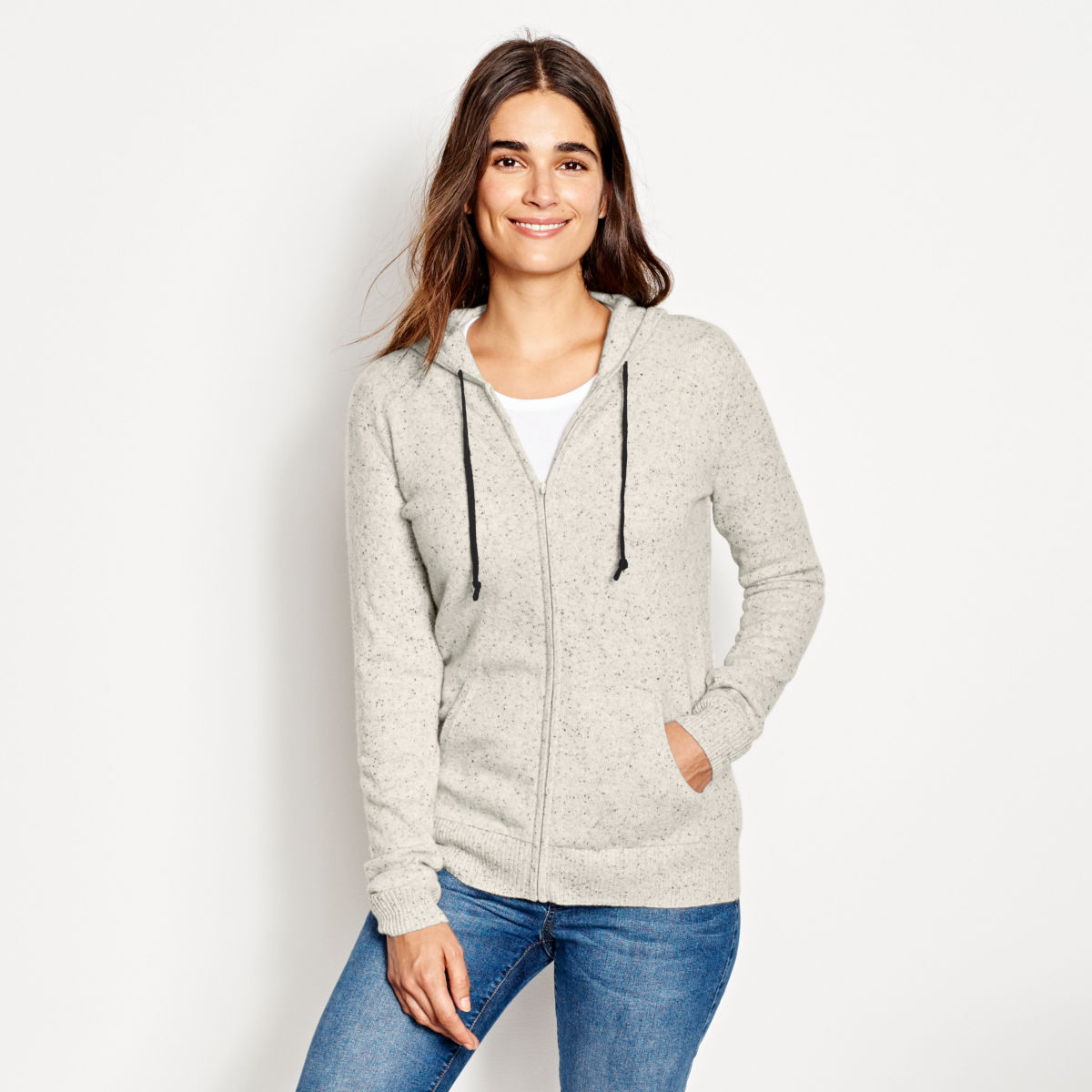 Cashmere Hooded Sweater - image number 0