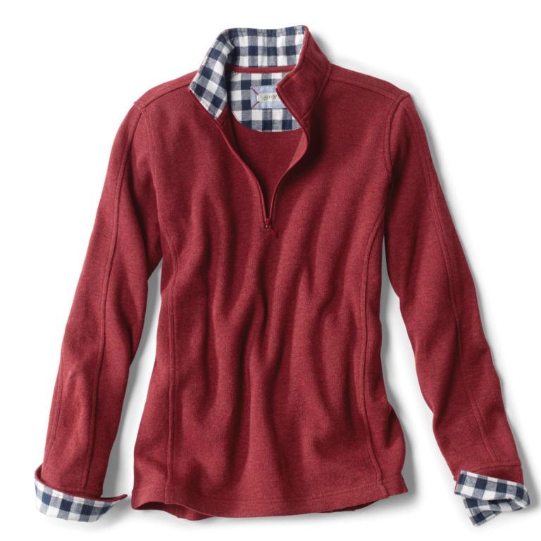 Signature Softest Print-Trimmed Quarter-Zip Sweatshirt -  image number 3