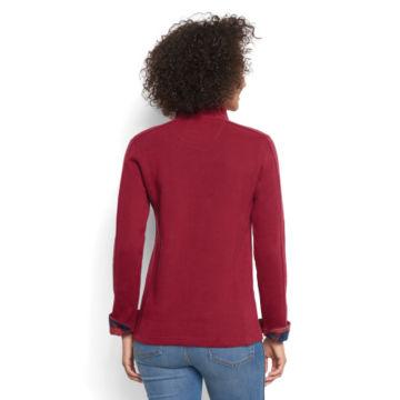 Signature Softest Print-Trimmed Quarter-Zip Sweatshirt -  image number 2