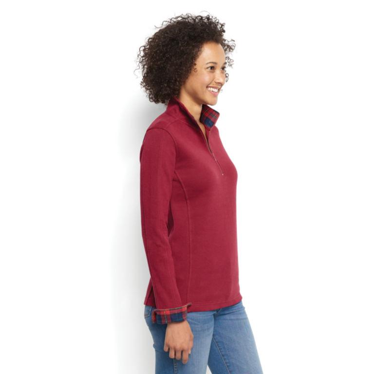 Signature Softest Print-Trimmed Quarter-Zip Sweatshirt -  image number 1