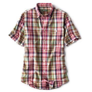 Signature Madras Short-Sleeved Shirt - NATURAL image number 0