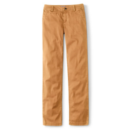laydown of Everyday Chinos in Ginger colorway
