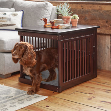 Wooden End-Table Crate -