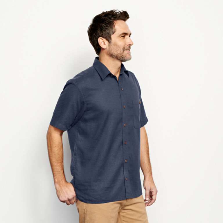 Hemp/Tencel®  Short-Sleeved Shirt -  image number 2