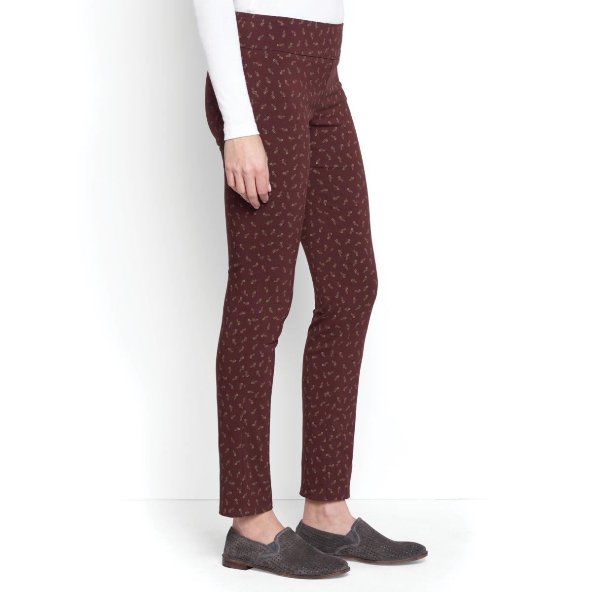 Slim Stretch Print Ankle Pants - image number 0