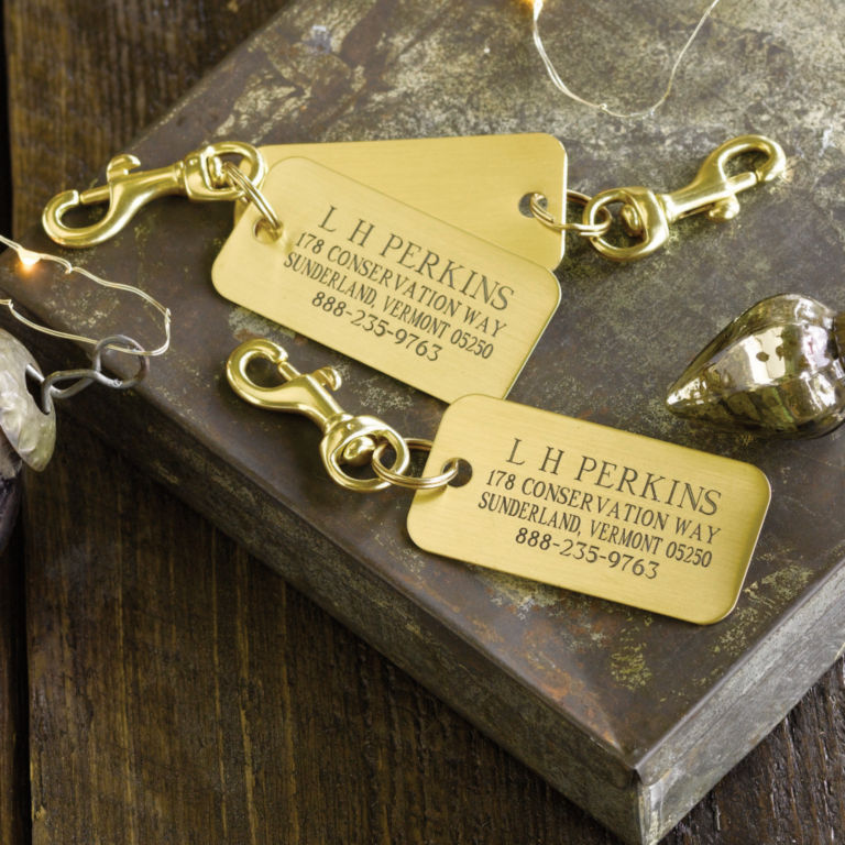 Engraved Brass Luggage Tags, Set of 3 -  image number 1