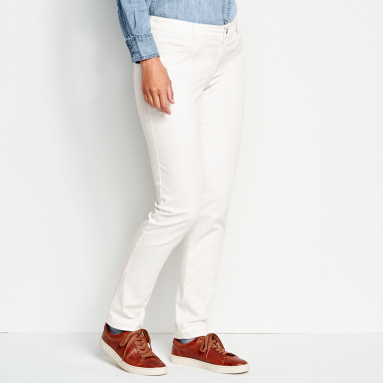Sueded Stretch Chinos -  image number 1