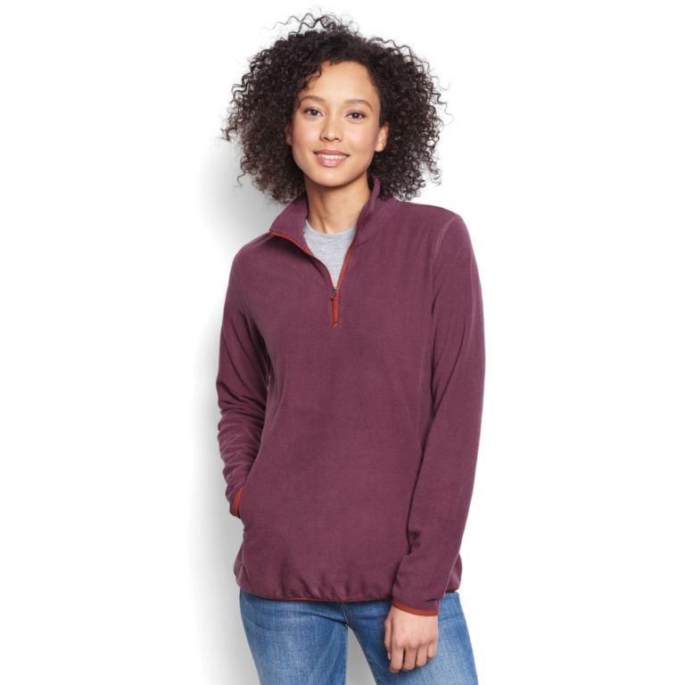 Women's Quarter-Zip Microgrid Fleece -  image number 0
