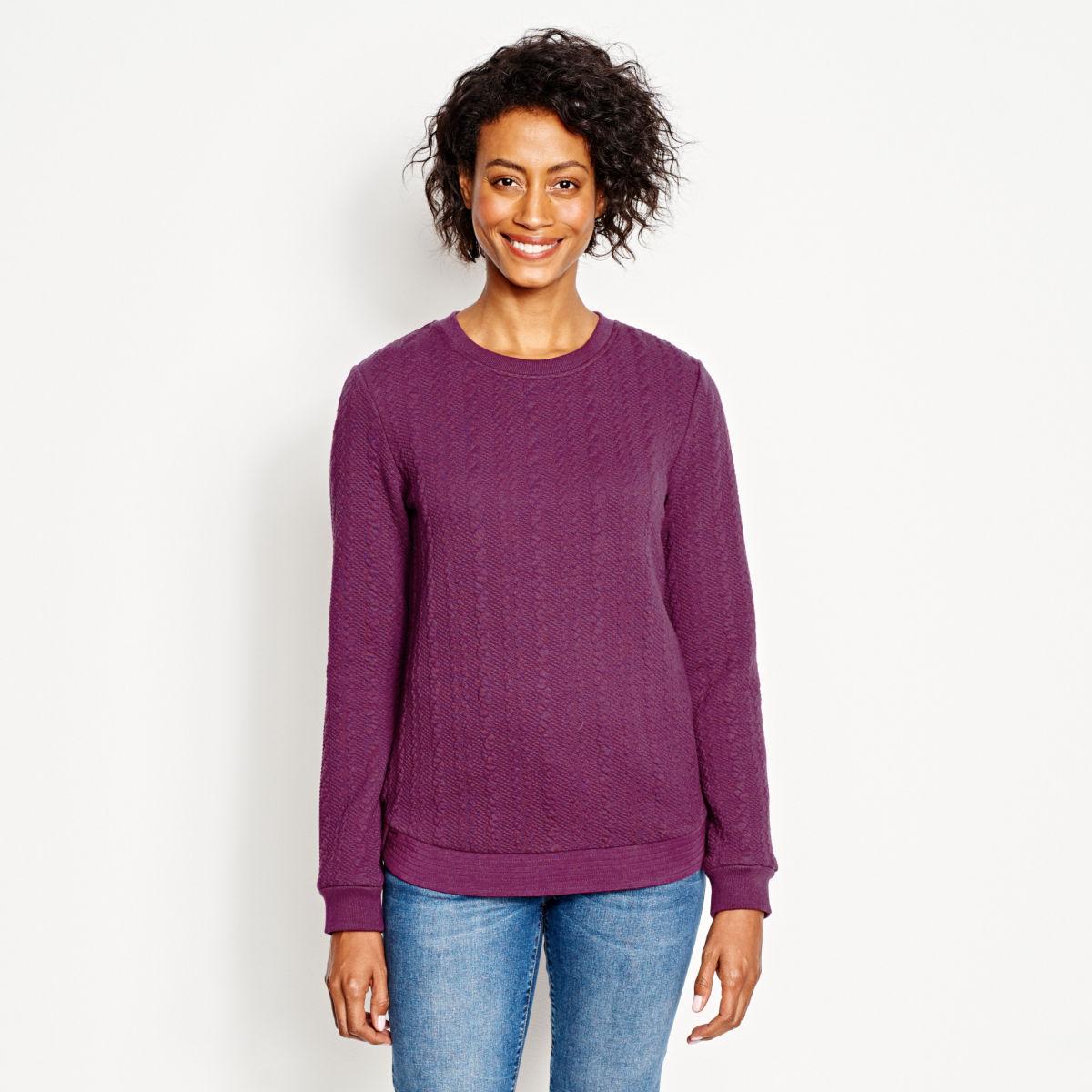 Jacquard-Knit Crewneck Sweatshirt - image number 0