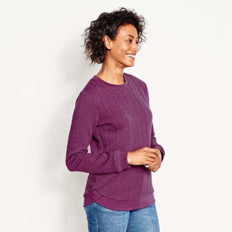 Jacquard-Knit Crewneck Sweatshirt -  image number 1