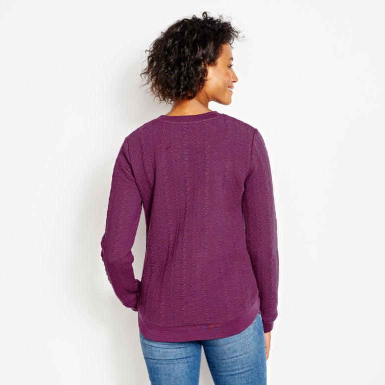 Jacquard-Knit Crewneck Sweatshirt -  image number 2