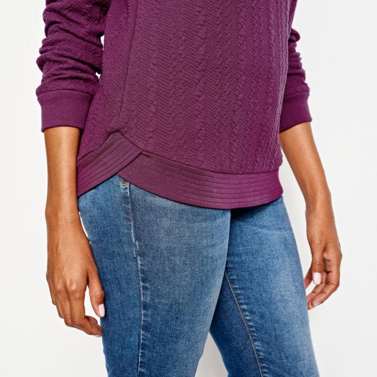 Jacquard-Knit Crewneck Sweatshirt -  image number 3