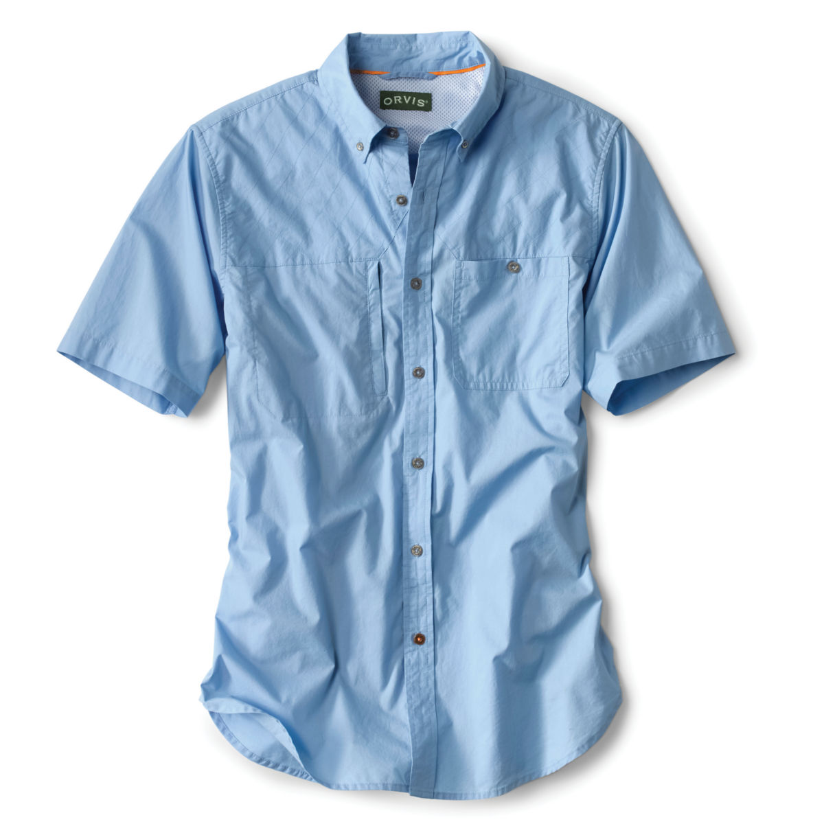 Short-Sleeved Cotton Featherweight Shooting Shirt - NAVYimage number 0