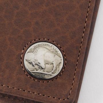 Buffalo Nickel Billfold Wallet - BROWN image number 1