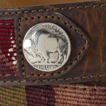 Guatemalan Buffalo Nickel Belt - BROWN image number 2