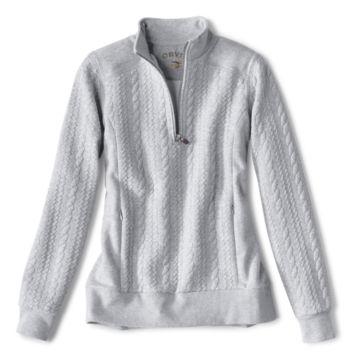 Women's Jacquard-Knit Quarter-Zip Sweatshirt -  image number 0