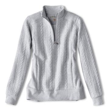Women's Jacquard-Knit Quarter-Zip Sweatshirt -