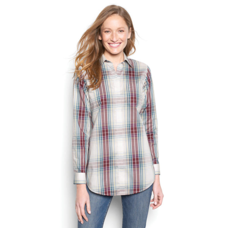 Wrinkle-Free Patterned Tunic -  image number 0