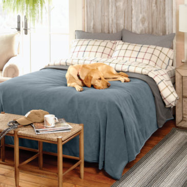 Dog-Proof Fleece Coverlet -
