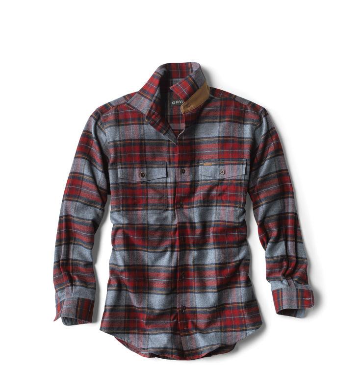 1930s Mens Shirts | Dress Shirts, Polo Shirts, Work Shirts Fairbanks Elk Creek Jaspe Long-Sleeved Flannel Shirt $89.00 AT vintagedancer.com