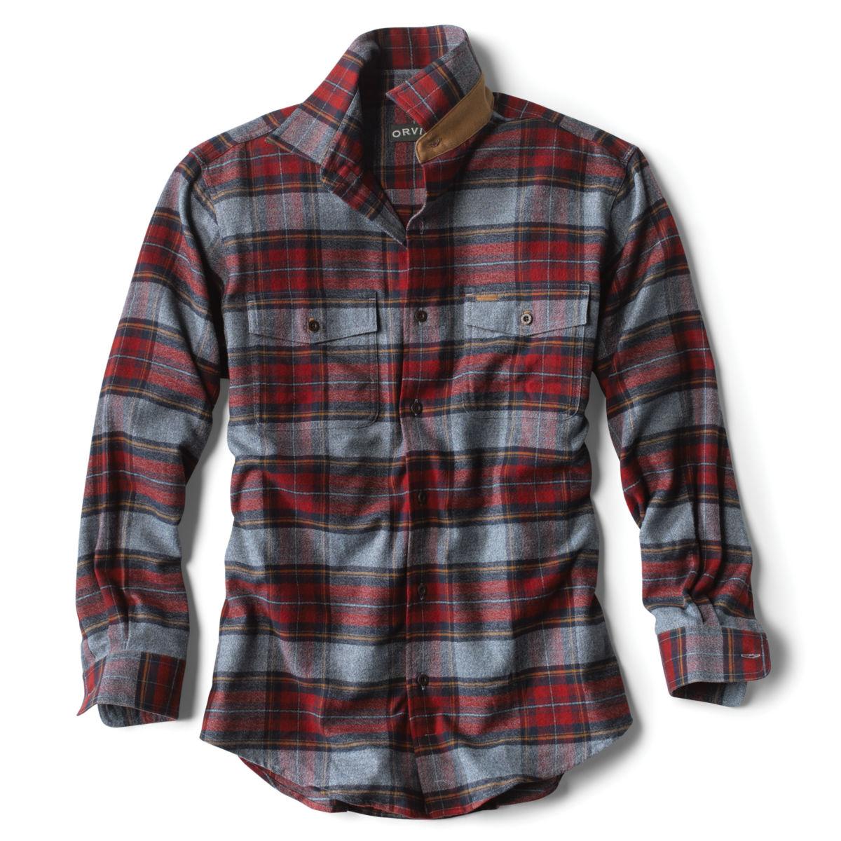 Fairbanks Elk Creek Jaspé Long-Sleeved Flannel Shirt - RED/NAVYimage number 0