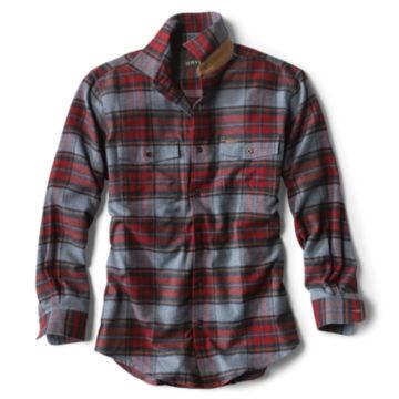 Fairbanks Elk Creek Jaspé Long-Sleeved Flannel Shirt - RED/NAVY image number 0