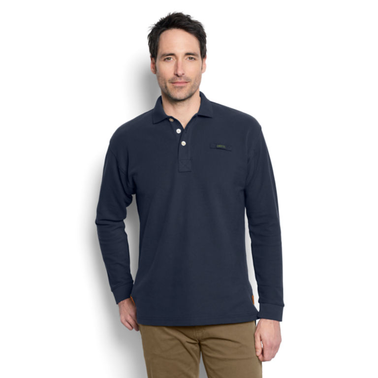 The Long-Sleeved Orvis Signature Polo - Regular -  image number 1