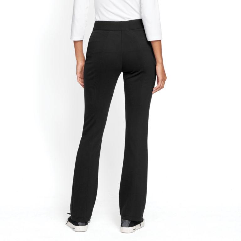 Ponte Slim Bootcut Pants - BLACK image number 0