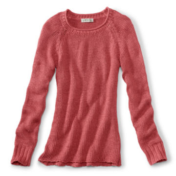 Garment-Dyed Rollneck Cotton Sweater - ROSEWOOD image number 0
