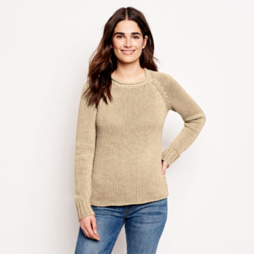 Garment-Dyed Rollneck Cotton Sweater -