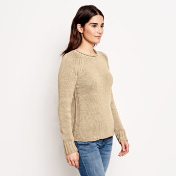 Garment-Dyed Rollneck Cotton Sweater -  image number 1