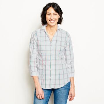 Wrinkle-Free Three-Quarter-Sleeved Patterned Shirt -  image number 0