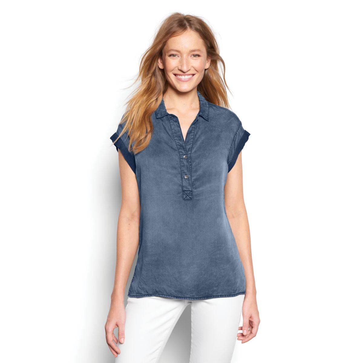 Tencel®  Short-Sleeved Popover - image number 0