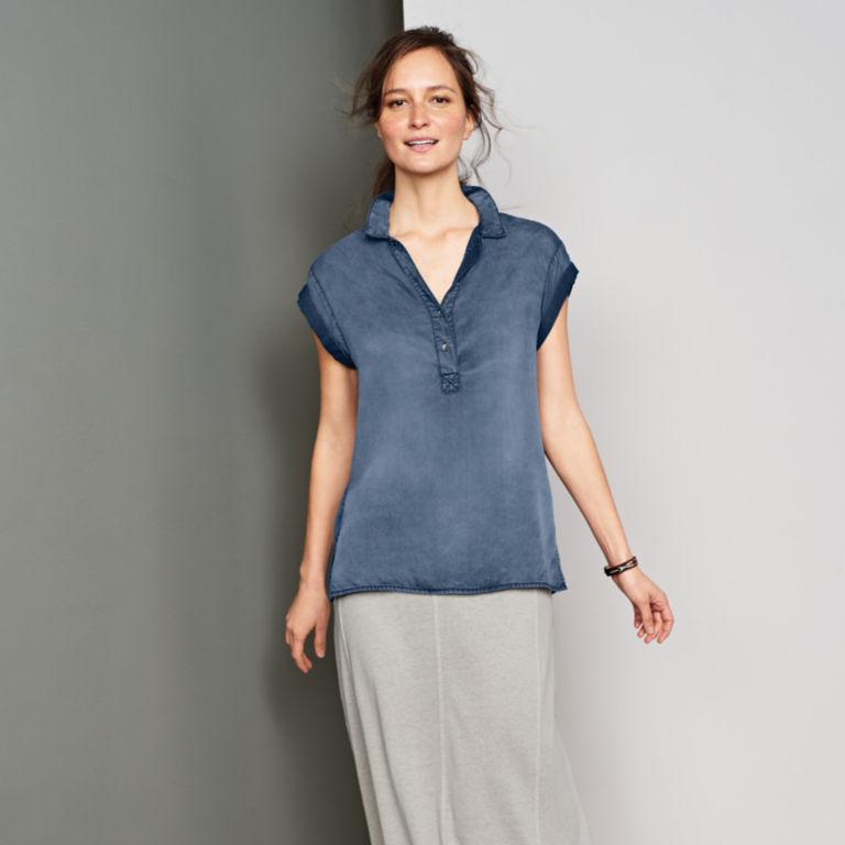 Tencel®  Short-Sleeved Popover -  image number 5