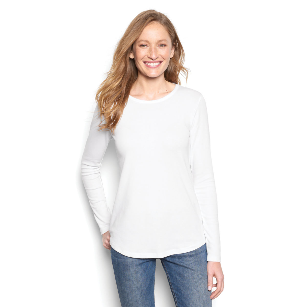 Long-Sleeved Relaxed Perfect Tee - image number 0