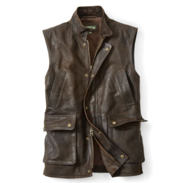 Munitions Leather Vest -  image number 0