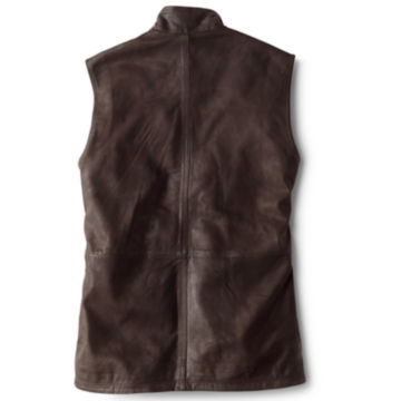 Munitions Leather Vest - BROWN image number 1