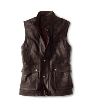 Munitions Leather Vest - BROWN image number 0