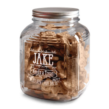 Personalized Glass Treat Jar -