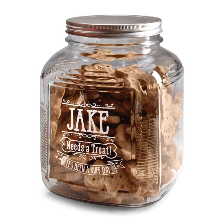 Personalized Glass Treat Jar -  image number 0