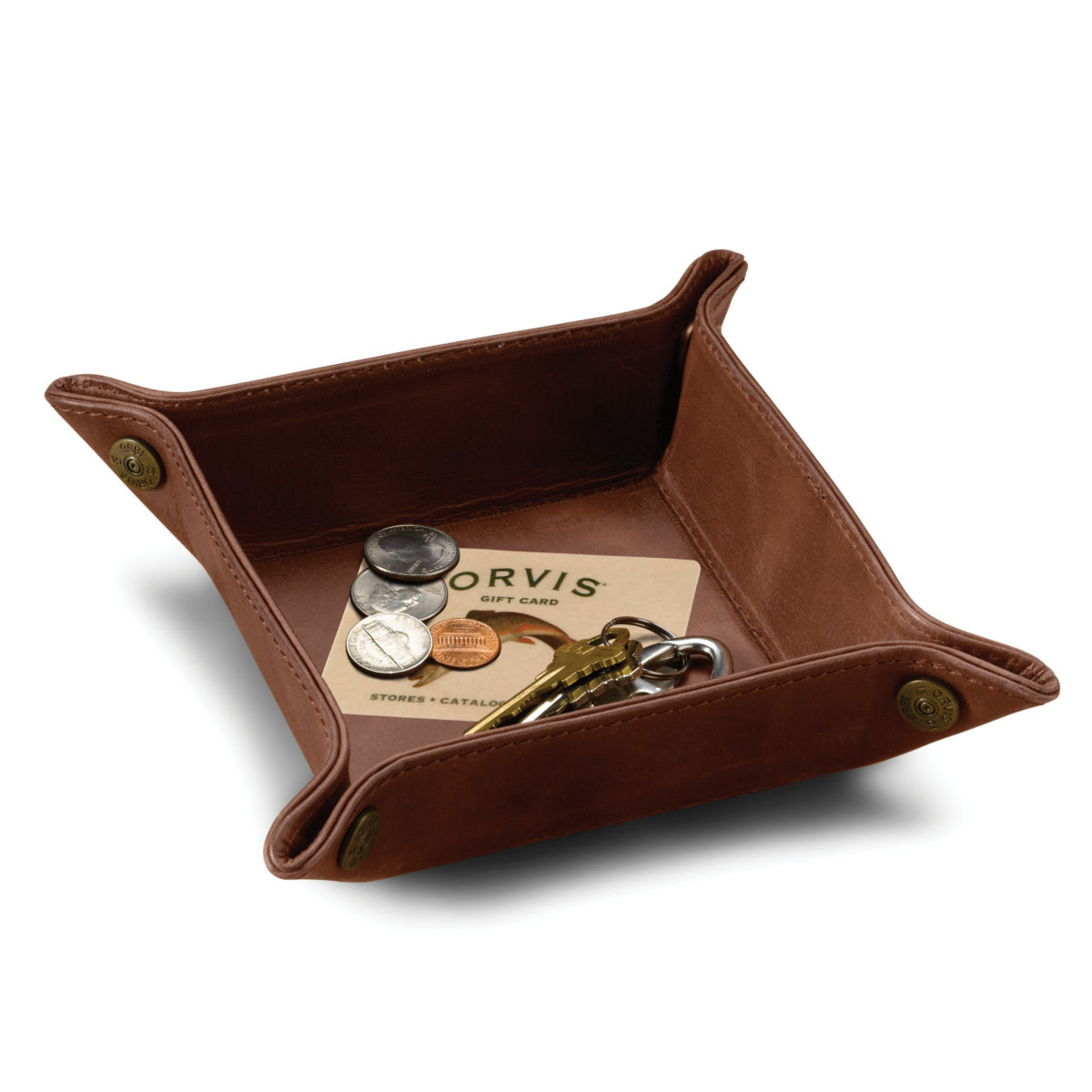 Dresser-Top Leather Tray - image number 0