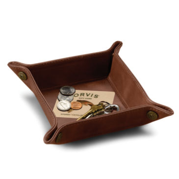 Dresser-Top Leather Tray -