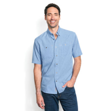 Tech Chambray Short-Sleeved Work Shirt -  image number 1