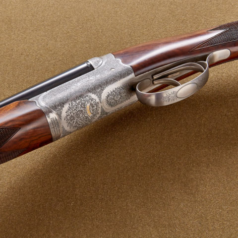 Bottom view of the Orvis Classic Side-by-Side Shotgun