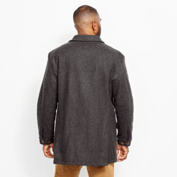 Wool Driving Coat - DARK CHARCOALimage number 5