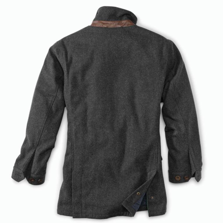 Wool Driving Coat - DARK CHARCOAL image number 2