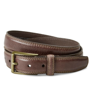Double Stitch Dress Belt - BROWN image number 0