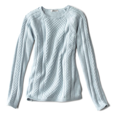 Cotton Cable-Stitch Sweater -