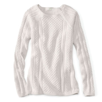 Cotton Cable-Stitch Sweater -  image number 3