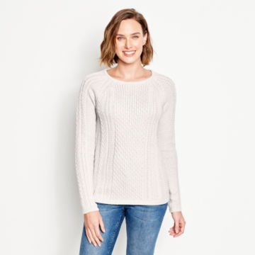 Cotton Cable-Stitch Sweater -  image number 0